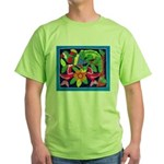 tropical forest animals mola Green T-Shirt