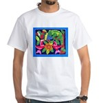 tropical forest animals mola White T-Shirt