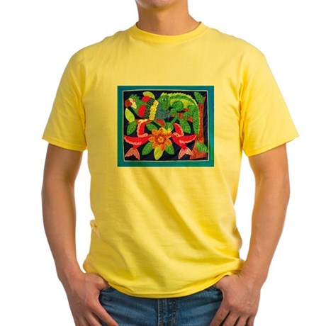 tropical forest animals mola Yellow T-Shirt