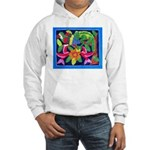 tropical forest animals mola Hooded Sweatshirt