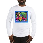 tropical forest animals mola Long Sleeve T-Shirt