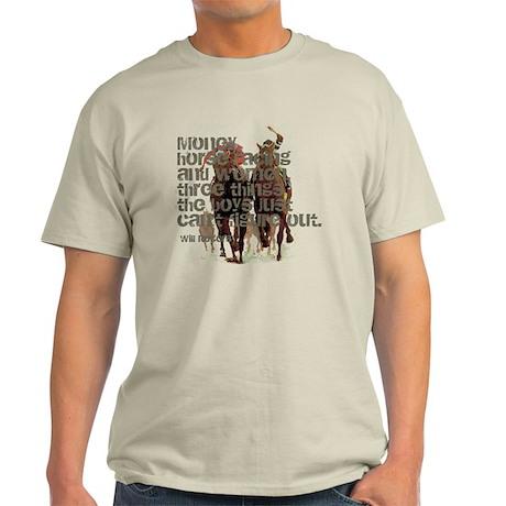 Will Rogers Horse Racing Quot Light T-Shirt