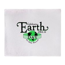 Celebrate Earth Day Throw Blanket