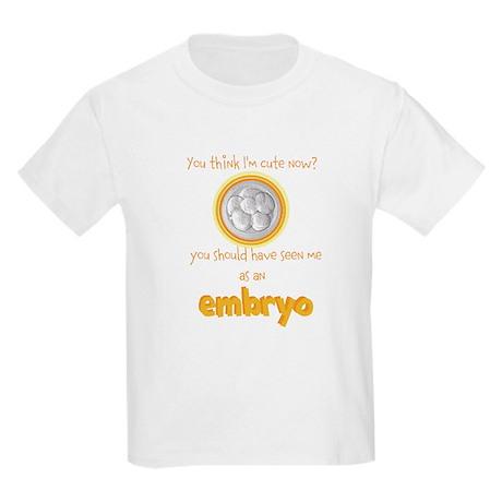 Cute IVF Embryo Kids Light T-Shirt