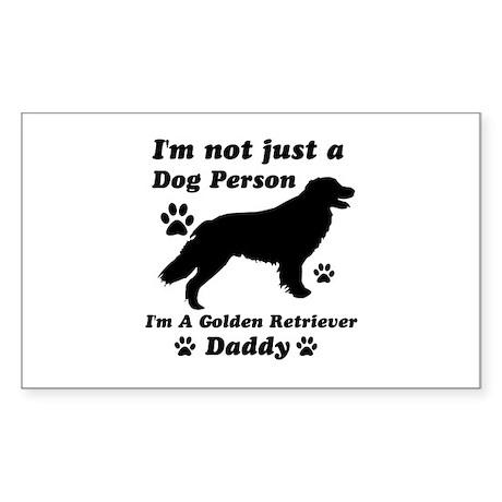 Golden retriever daddy Sticker (Rectangle)