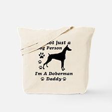 Doberman daddy Tote Bag
