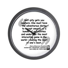 Fosdick Best Quote Wall Clock