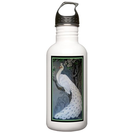 White Peacock Stainless Water Bottle 1.0L