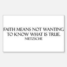 Faith: Not Wanting to Know Wh Sticker (Rectangular