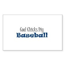Chicks dig baseball Rectangle Decal