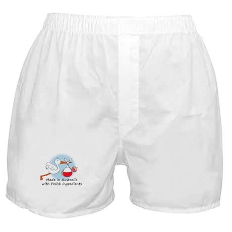 Stork Baby Poland Australia Boxer Shorts