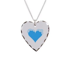Snow Capped Heart Necklace