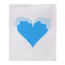 Snow Capped Heart Throw Blanket