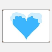 Snow Capped Heart Banner
