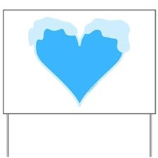 Snow Capped Heart Yard Sign