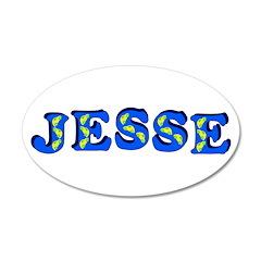 Jesse 38.5 x 24.5 Oval Wall Peel
