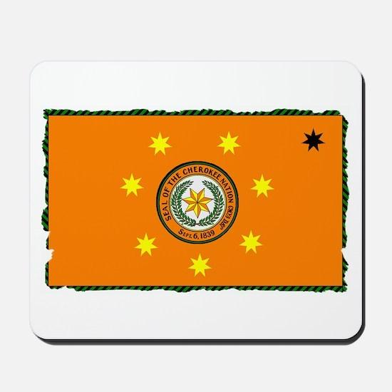 Cherokee Nation Flag Mousepad