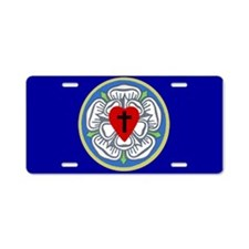 Luther Seal 2 Aluminum License Plate