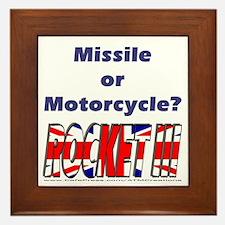 Missle or Motorcycle? Framed Tile