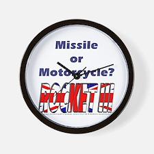 Missle or Motorcycle? Wall Clock