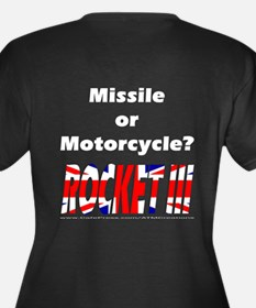 Missle or Motorcycle? Women's Plus Size V-Neck Dar