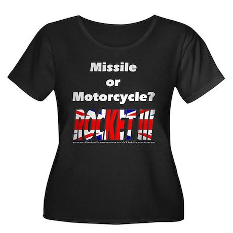 Missle or Motorcycle? Women's Plus Size Scoop Neck