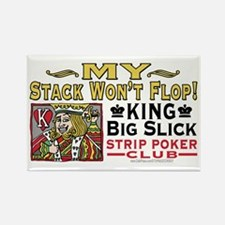 King Big Slick Strip Poker Rectangle Magnet