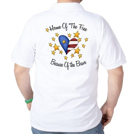 Home Of The Free Because Of The Brave Golf Shirt