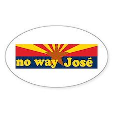 AZ Flag NO Way Jose! Oval Decal