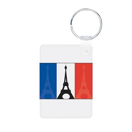 France Eiffel Tower Aluminum Photo Keychain