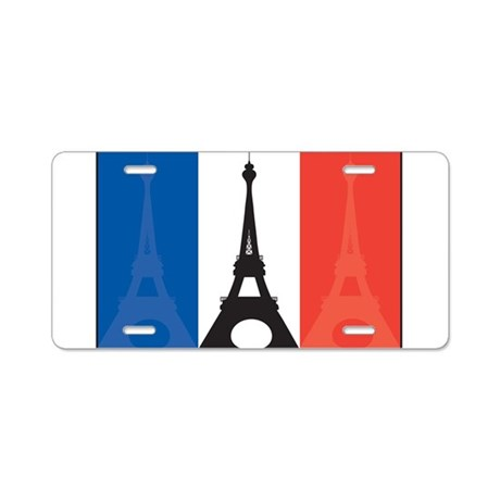 France Eiffel Tower Aluminum License Plate