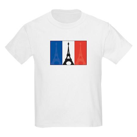 France Eiffel Tower Kids Light T-Shirt