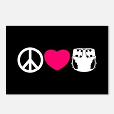Peace, Love, Cloth Postcards (Package of 8)