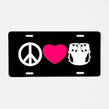 Peace, Love, Cloth Aluminum License Plate