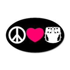 Peace, Love, Cloth 22x14 Oval Wall Peel