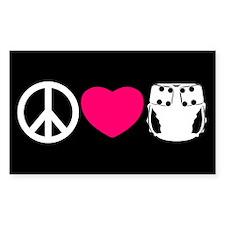 Peace, Love, Cloth Decal
