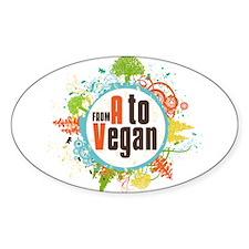 Vegan World Sticker (Oval)