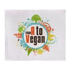 Vegan World Throw Blanket
