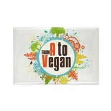Vegan World Rectangle Magnet