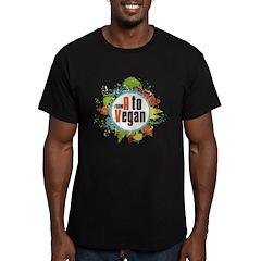 Vegan World Men's Fitted T-Shirt (dark)