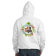 Vegan World Hooded Sweatshirt