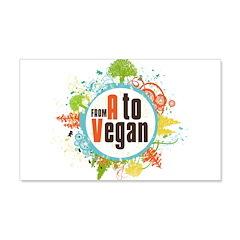 Vegan World 22x14 Wall Peel