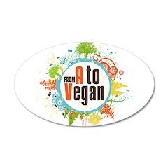 Vegan World 22x14 Oval Wall Peel