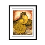 Yellow English Trumpeter Framed Panel Print