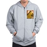 Yellow English Trumpeter Zip Hoodie