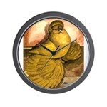 Yellow English Trumpeter Wall Clock