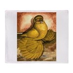 Yellow English Trumpeter Throw Blanket