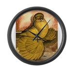 Yellow English Trumpeter Large Wall Clock