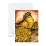 Yellow English Trumpeter Greeting Cards (Pk of 10)