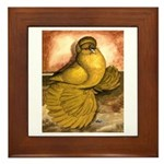 Yellow English Trumpeter Framed Tile